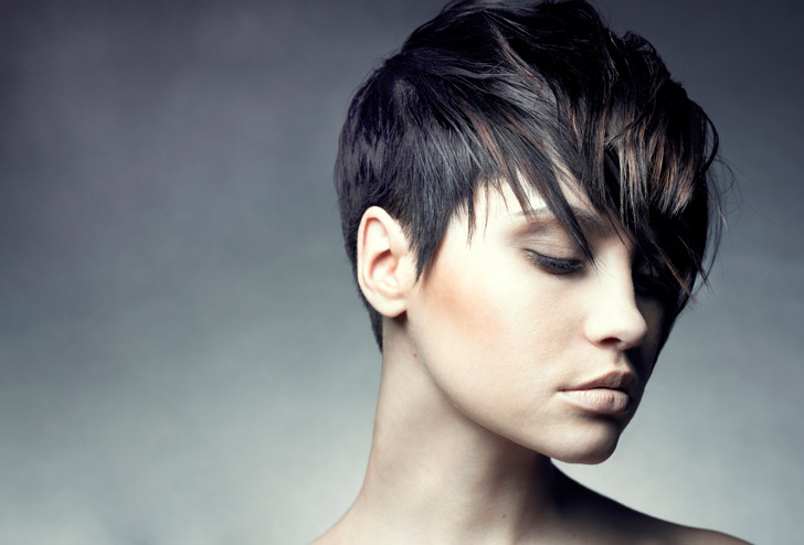 "A strong, feminine, sexy and liberating haircut to ""bring out"" and ""hilight"" your neckline, cheekbones, and jawline.  Our scissor slicing technique is used to sculpt this haircut according to your hair type.  A confident haircut for a confident person.  A beautiful look."